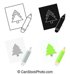 映像, 網, モビール, イラスト, icon., 漫画, design.