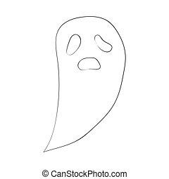 映像, ghost., halloween., イラスト, 手, ベクトル, graphics., 図画, 漫画