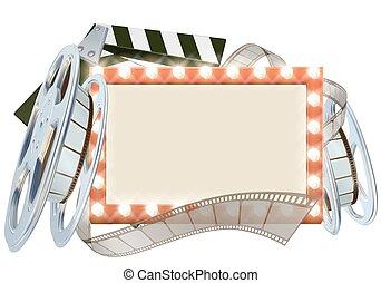 映画館, フィルム, 印