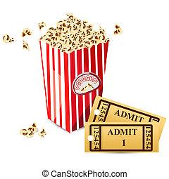 映画, トウモロコシ, 切符, ポンとはじけなさい