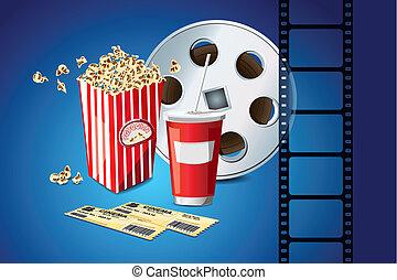 映画, トウモロコシ, 巻き枠, ポンとはじけなさい