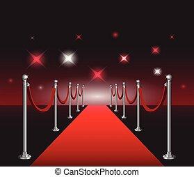 映画, 優雅である, 背景, プリミア, ハリウッド, でき事, 赤いカーペット