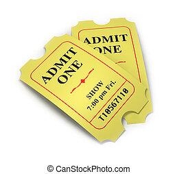 映画, 切符