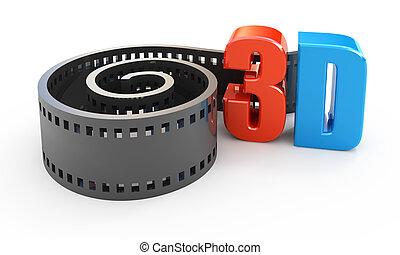映画, 概念, 3d