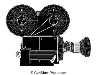 映画, 03, 古い, カメラ