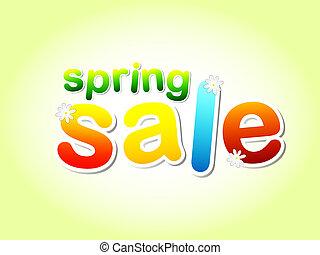 春の花, セール, テキスト