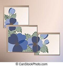 春の花, テンプレート, カード