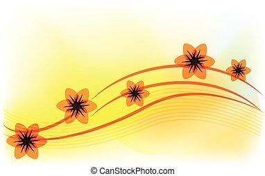春の花, テンプレート