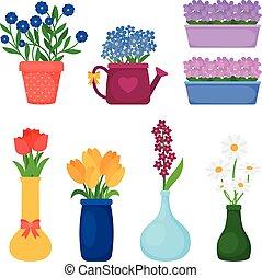 春の花, ポット