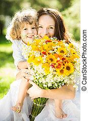 春の花, 家族, 幸せ