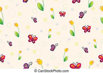 春天, 墙纸, seamless