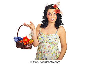 春天, 婦女藏品, 籃子
