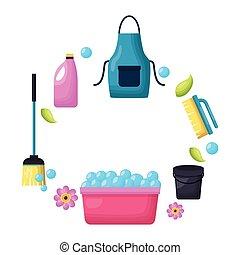 春天, 工具, 打扫