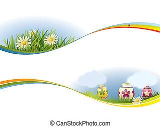 春天, 旗帜