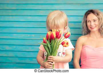 春天, 概念, 假日, 天, 母亲` s
