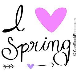 春天, 爱