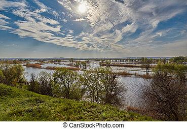 春天,  Volga, 太陽
