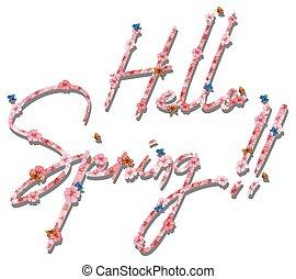 春, こんにちは, 手紙, テキスト