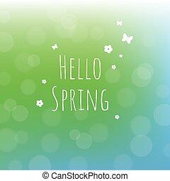 春, こんにちは, 背景