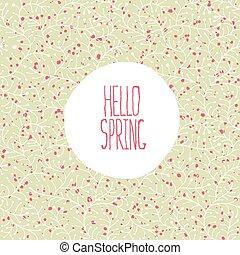 春, こんにちは