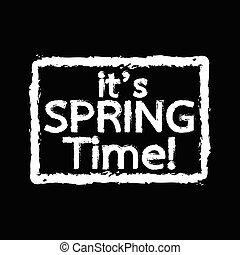 春, それ, イラスト, 活版印刷, デザイン, 時間