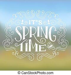 春, ∥それ∥, デザイン, 印刷である, 時間