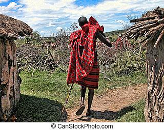 春, アフリカ, 細部, 2005, の間, kenya