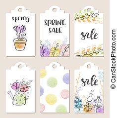 春, セール, タグ