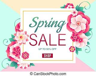 春, セール, 背景