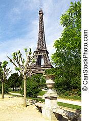 春, タワー, エッフェル, 公園