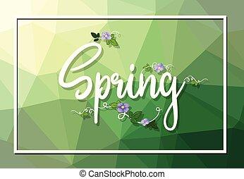 春, テンプレート, テキスト