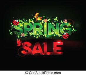 春, デザイン, セール