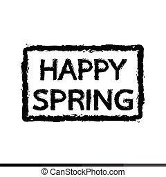 春, デザイン, 活版印刷, イラスト, 幸せ