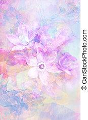 春, デリケートである, 芸術的, 背景, 花, 美しい