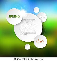 春, ベクトル, セール, 背景