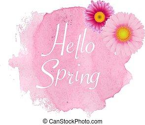 春, ポスター, gerber