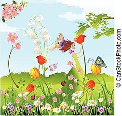 春, 到来