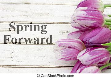 春, 前方へ, メッセージ