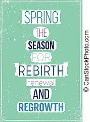 春, 動機づけである, 新たに, ポスター, 引用