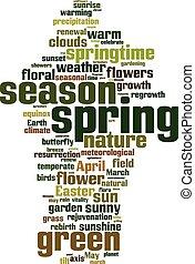 春, 単語, 雲