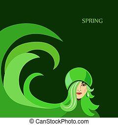 春, 女の子