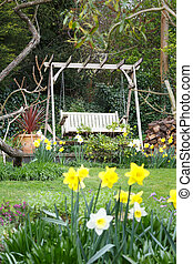 春, 庭の英語