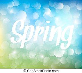 春, 抽象的, ベクトル, 背景