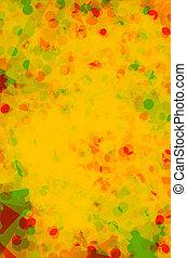 春, 抽象的, 黄色, 手ざわり