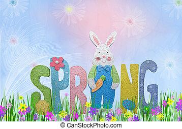 春, 持つ, 飛びかかった