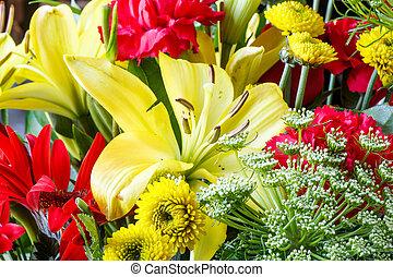 春, 新たに, boquet, キク, lillys