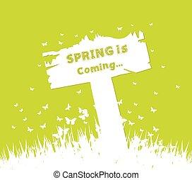 春, 概念, 到来, 印