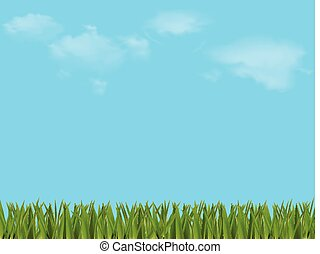 春, 牧草地, 美しい, 夏, カラフルである, ∥あるいは∥, イラスト