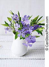 春, 花束, 上に, テーブル