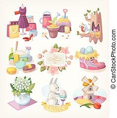 春, 要素, カード